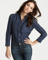 "Juicy Couture Dotty"" Cotton Button-Down Shirt"