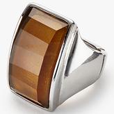 John Lewis Statement Rectangular Ring, Amber, One Size