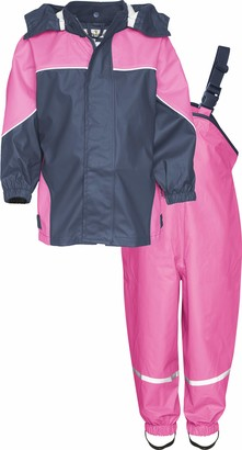 Playshoes Girls' Regen-Set 2-Farbig Rain Jacket