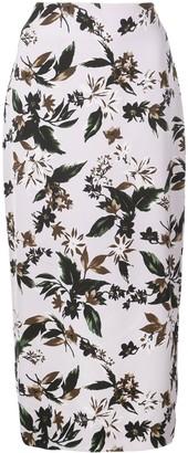 Dvf Diane Von Furstenberg Floral-Print Skirt