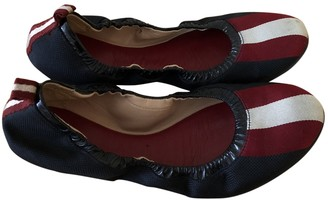 Bally Navy Cloth Ballet flats