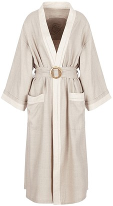 Giorgio Armani Silk Canvas Trench Coat