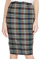 Polo Ralph Lauren Cotton Madras Pencil Skirt