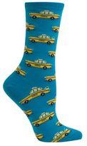 Hot Sox Taxi Cab Printed Cotton-Blend Socks