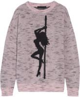 Alexander Wang Jacquard-knit Mohair-blend Sweater - Baby pink