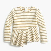 J.Crew Girls' glittery striped swingy T-shirt