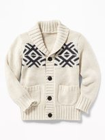 Old Navy Fair Isle Shawl-Collar Cardigan for Toddler Boy