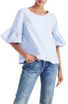 Madewell Women's Ruffle Sleeve Top