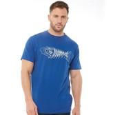 Weird Fish Mens Scribble Branded T-Shirt Deep Ocean
