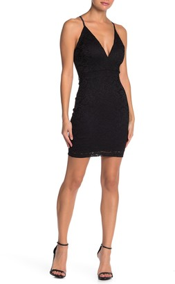 Love, Nickie Lew Lace Plunging Neck Bodycon Dress