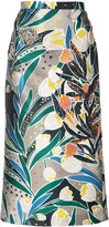 Rochas embellished printed skirt - women - Silk/Polyester - 40