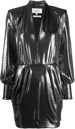 BA&SH plunging V-neck metallic sheen dress