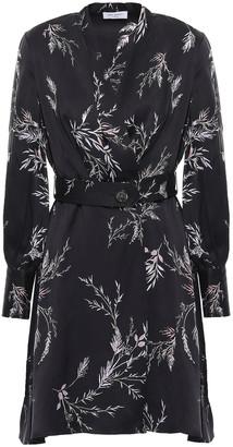Equipment Fanetta Wrap-effect Floral-print Silk-blend Mini Dress