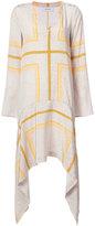Derek Lam 10 Crosby printed trapeze hem dress - women - Silk - 0