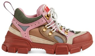 Gucci Leather & Canvas Sneakers
