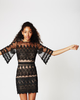 Nicole Miller Bell Sleeve Lace Dress