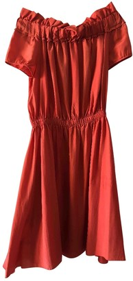 Nina Ricci Orange Silk Dress for Women