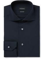 Ermenegildo Zegna - Blue Slim-fit Cutaway-collar Trofeo Cotton Shirt