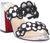 Christian Louboutin Tres Pansy 85 Red Sole Sandals