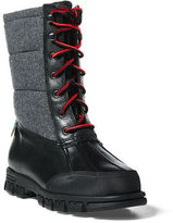Ralph Lauren Quinlyn Leather Snow Boot