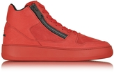 Hogan Pure R28 Red Leather and Nubuck High Top Men's Sneaker