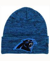 New Era Carolina Panthers Beveled Team Knit Hat