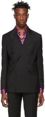 SSS World Corp Black Wool Bad Blazer