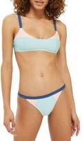 Topshop Women's Colorblock Bikini Top