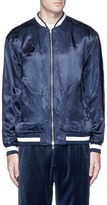 3.1 Phillip Lim Eagle embroidered reversible satin souvenir jacket