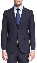 Ermenegildo Zegna Torino Peak-Lapel Two-Piece Wool Suit, Navy