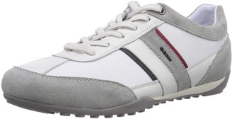 Geox Men U Wells C Low-Top Sneakers White (White/Icec0130) 10.5 UK