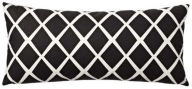Black Diamond Lumbar Pillow Cover