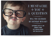 Minted I Mustache You a Question Children's Birthday Party Invitations