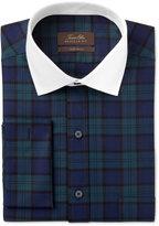 Tasso Elba Men's Classic/Regular Fit Blackwatch French Cuff Dress Shirt, Only at Macy's