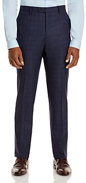 John Varvatos Slim Fit Plaid Suit Pants