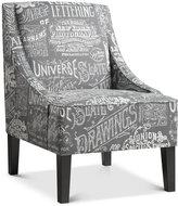 Powal Upholstered Arm Chair, Quick Ship