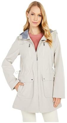 Vince Camuto Hooded Softshell Anorak V10711-ZA (Powder Pink) Women's Clothing