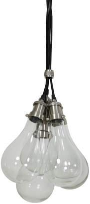 Light & Living - FIDA Multi Bulb Pendant Light - 14cm x 33cm | glass | silver - Silver/Silver