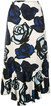 Marni Roma print jacquard skirt