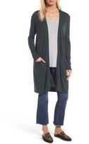 Women's Halogen Long Open Front Cardigan