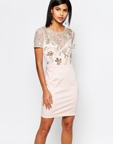 French Connection Horizon Lights Embellished Dress