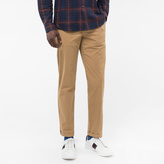 Paul Smith Men's Tapered-Fit Sand Garment-Dye Pima-Cotton Stretch Chinos