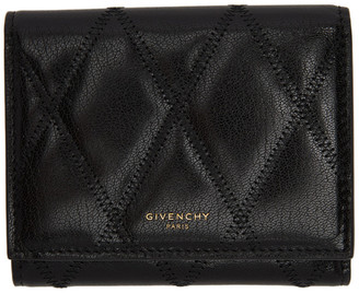 Givenchy Black Quilted GV3 Trifold Wallet
