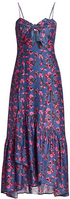 Hermanny Vix By Paula Fiore Bia Floral Sweetheart Flounce Dress