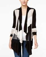 INC International Concepts Petite Draped Colorblocked Cardigan, Created for Macy's
