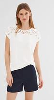Esprit T-shirt w a lace yoke