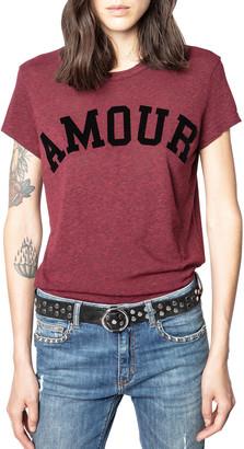 Zadig & Voltaire Walk Amour Typographic T-Shirt