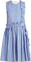 MSGM Sleeveless ruffle-trimmed cotton-gingham dress