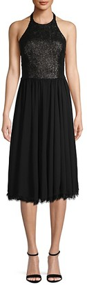 Dress the Population Halter Knee-Length Dress