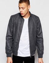 Brave Soul Zip Through Bomber Jacket
